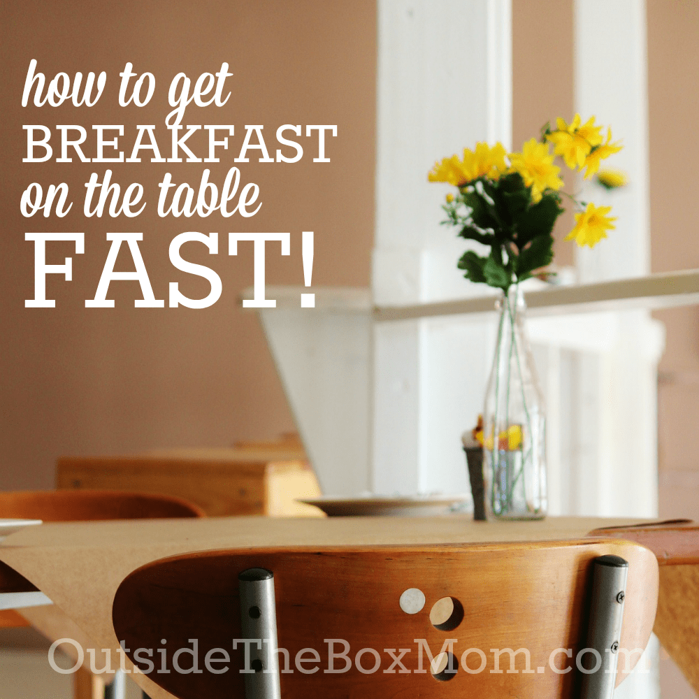 No matter how quickly you need to rush out the door or how busy your day at home will be, making time for breakfast will set the right tone for your day.