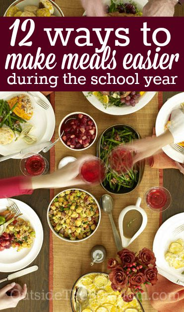 Make meals easier during the school year