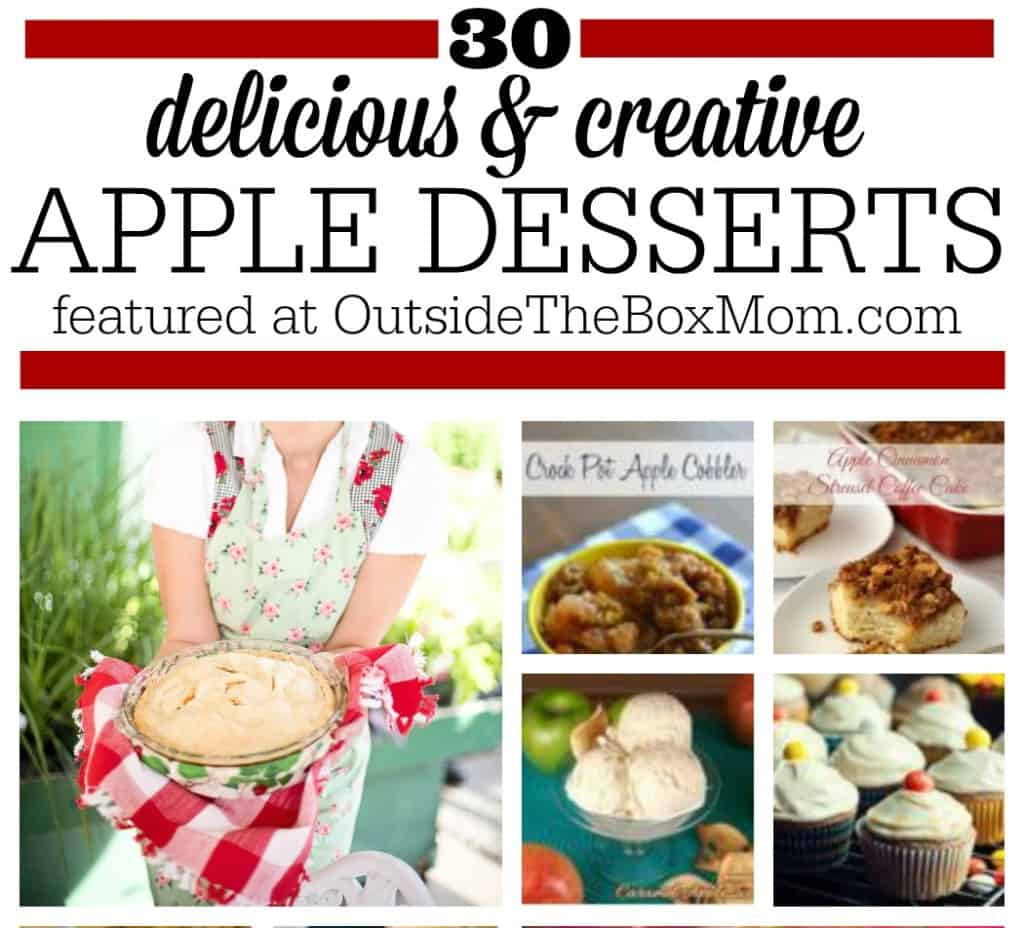 Are you looking for a collection of great apple dessert recipes? Look no further! Here's a list of 30 of the best from some of my favorite bloggers.
