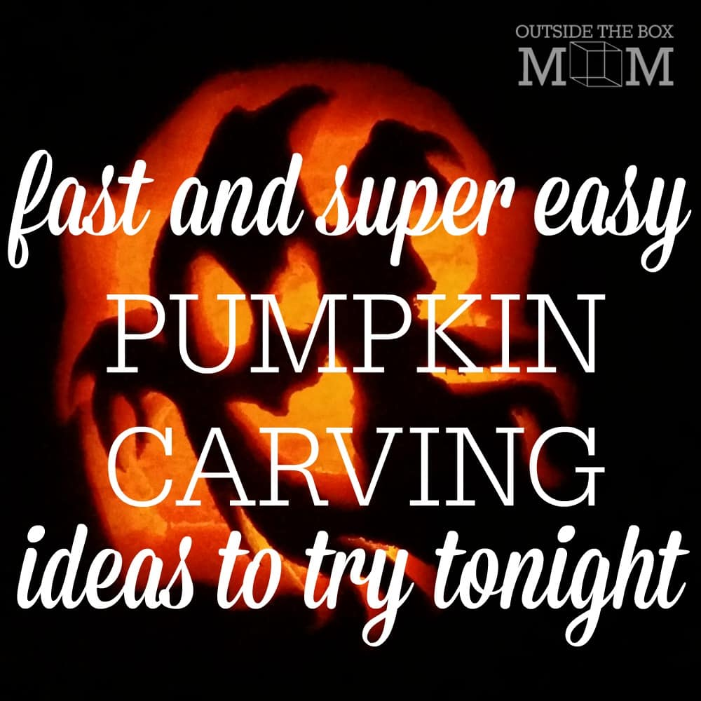 Easy pumpkin carving ideas working mom blog outside for Easy fun pumpkin carving idea