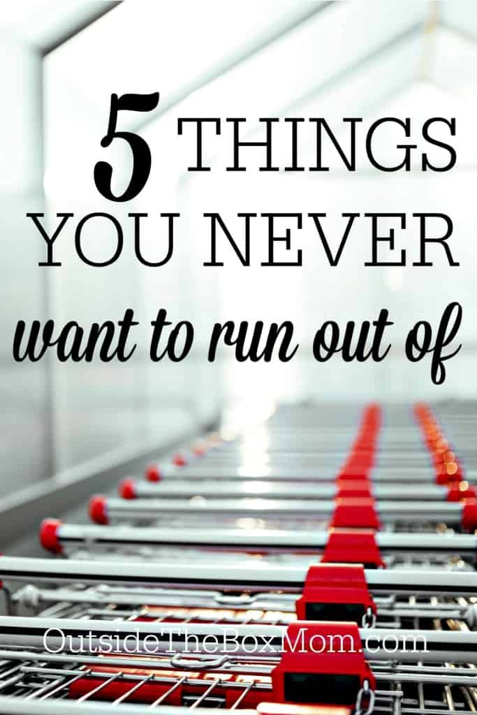 Some weeks I feel like I go to the grocery store everyday. That's a sure sign that life has gotten too busy and I'm not doing a good job of planning ahead. These are 5 things I often run low on or run out of in my house.