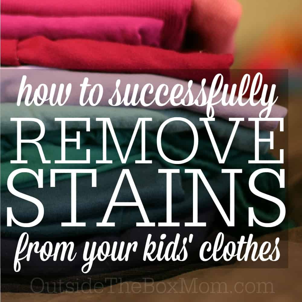How to Remove Stains from Kids' Clothes