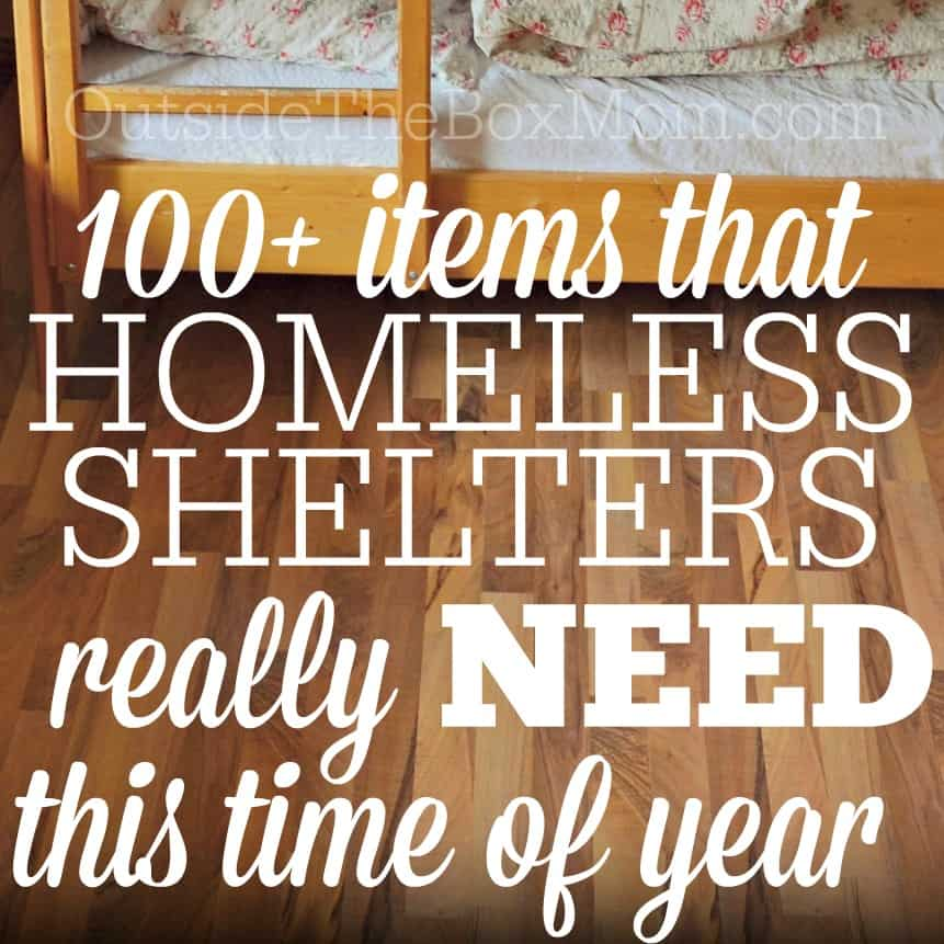 What Homeless Shelters Really Need This Time of Year
