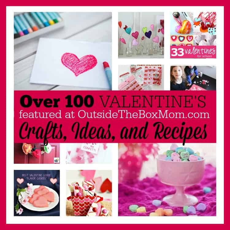 Are you looking for ways to spend time with your family on Valentine's Day including making come cute crafts and delicious recipes? Look no further. I've rounded up a list of more than 100 Valentine's ideas for everyone.