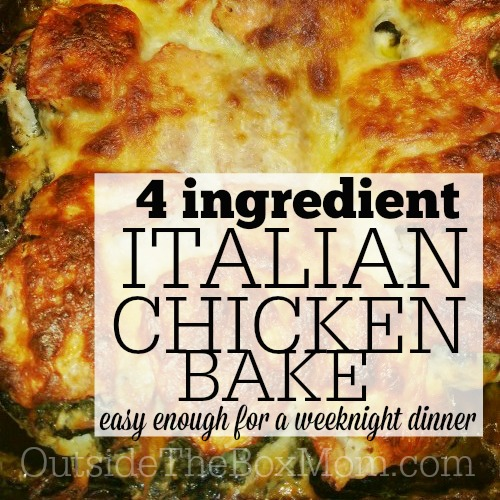 This recipe for Italian baked chicken comes together in about 45 minutes. It's an easy weeknight meal and or kid-friendly dinner.