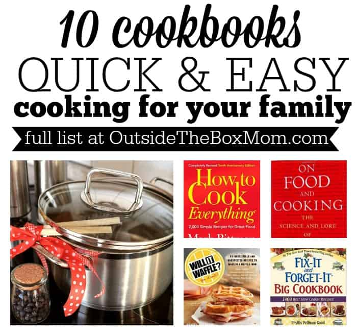 I love quick, go-to meals that don't require a lot of ingredients, are easy to prepare, and that my family will eat. I've gathered a list of cookbooks that feature quick & easy recipes so you can get dinner on the table for your family in no time flat.