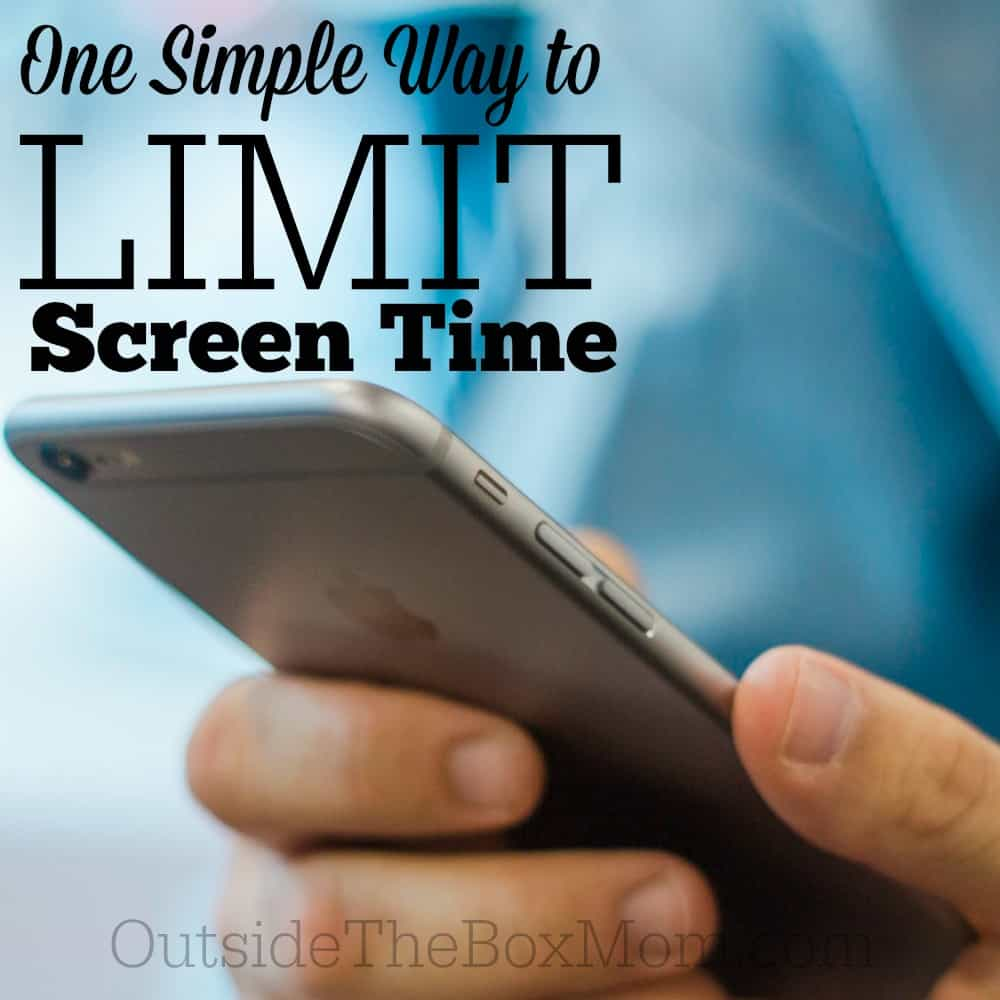 One Simple Way to Limit Cellphone Screen Time