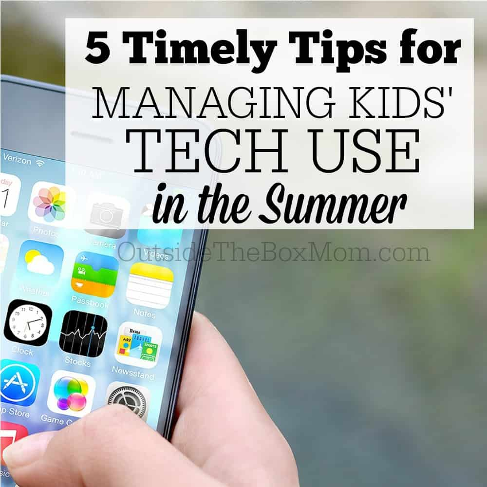 5 Timely Tips for Managing Kids' Tech Time in the Summer