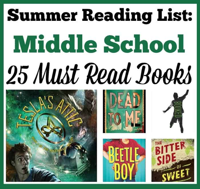 Are you looking for a list of books for your 6th, 7th, or 8th grader to read this summer (2016)? I've compiled a list of must-read books that your tween or teen is sure to enjoy!