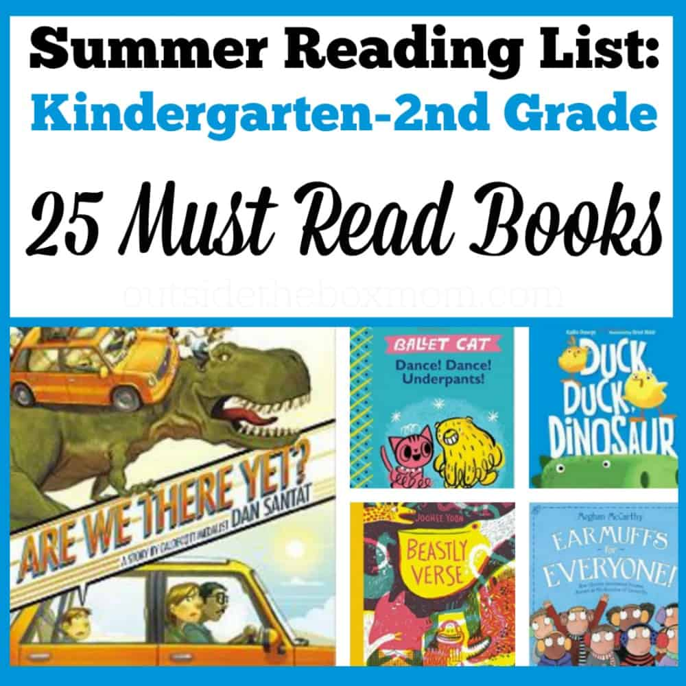 Are you looking for a list of books for your Kindergarten, 1st, or 2nd grader to read this summer (2016)? I've compiled a list of must-read books that your little one is sure to enjoy!