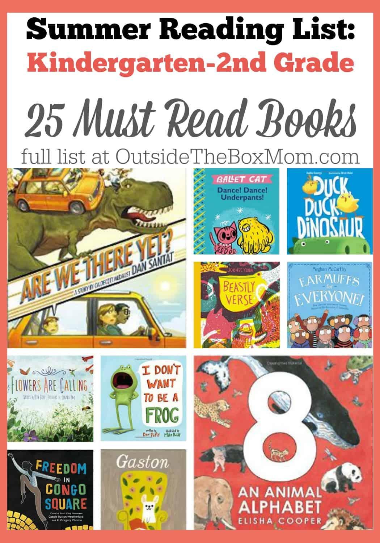 Summer Reading List K 2 Working Mom Blog Outside The Box Mom
