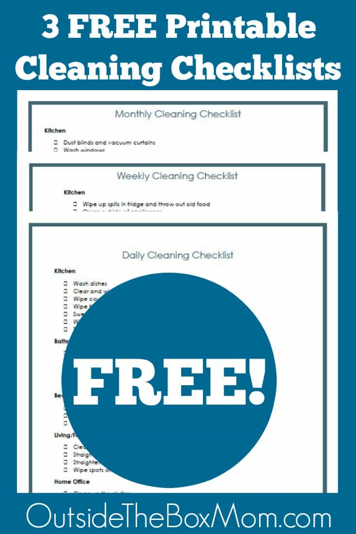 Daily Cleaning Checklist Printable. Affordable Cleaning Checklist ...