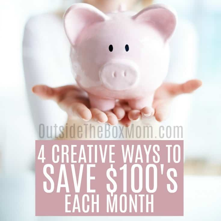 4 creative ways to save money each month working mom blog outside the box mom. Black Bedroom Furniture Sets. Home Design Ideas
