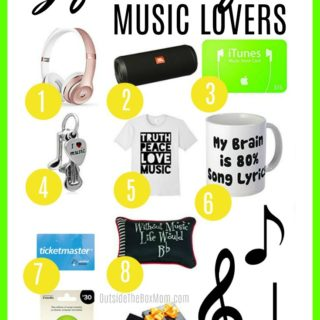 Gift Ideas for Music Lovers | Musical Gift Ideas | perfect gift for the person who loves music