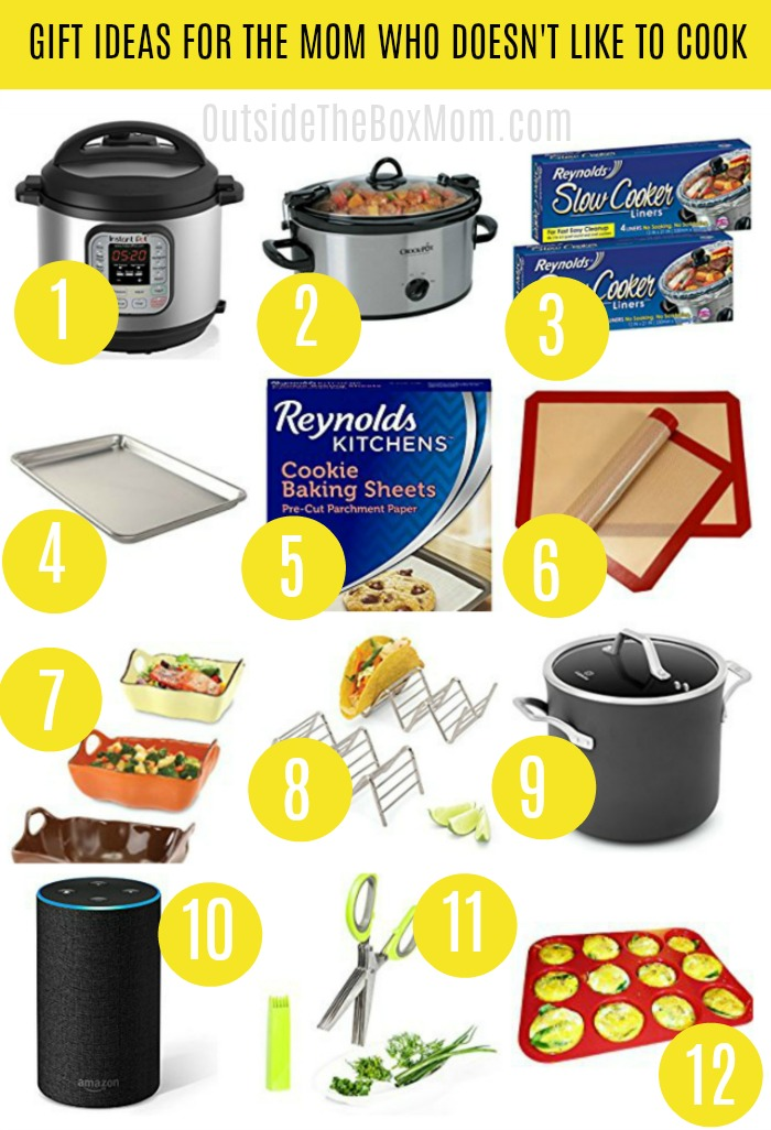12 Gift Ideas For The Mom Who Doesn T Like To Cook Working Mom Blog Outside The Box Mom