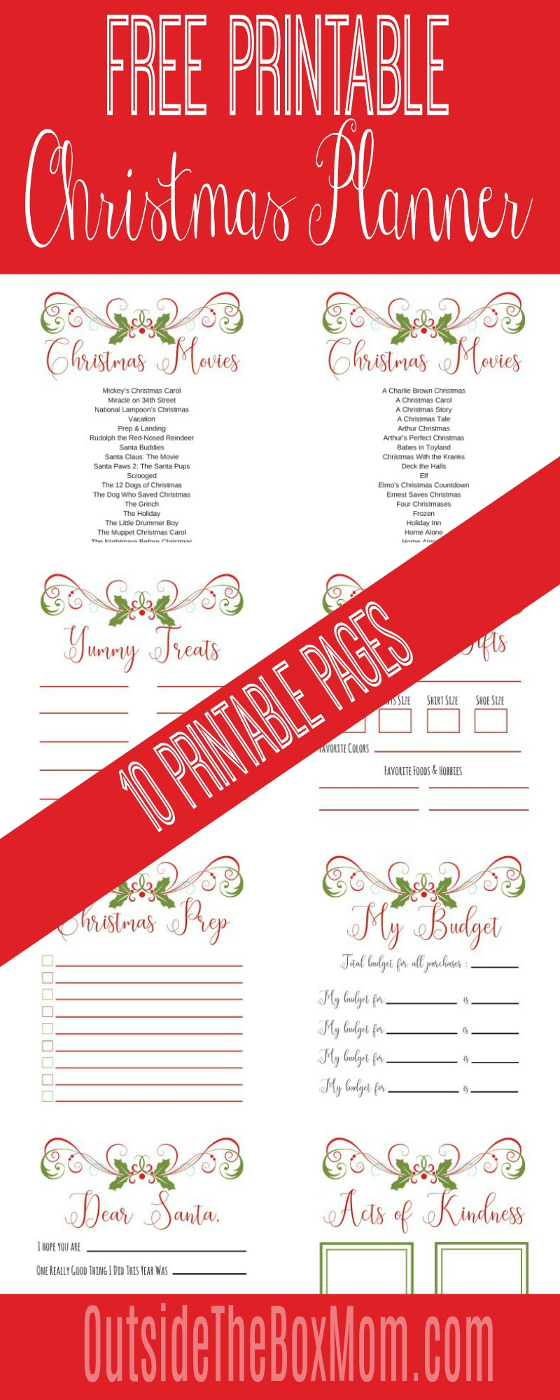 photograph regarding Free Christmas Planner Printables named The Final Xmas Planner - Doing work Mother Weblog Outdoors