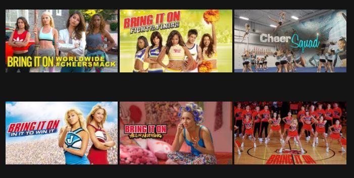 Cheer movies on Netflix