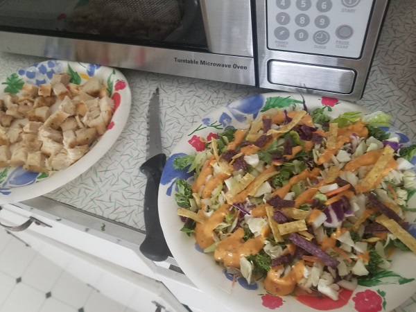 Southwest Salad Made With Tyson Grilled & Ready® Chicken Breast