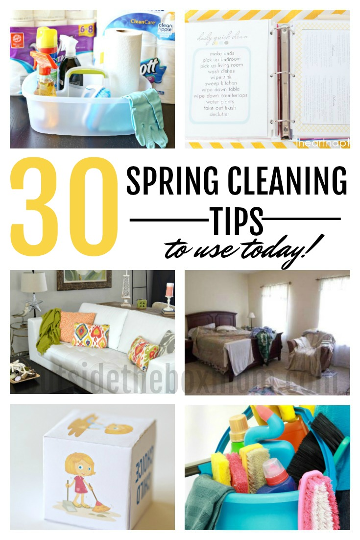 30 Spring Cleaning House Tips - Working Mom Blog | Outside the Box Mom